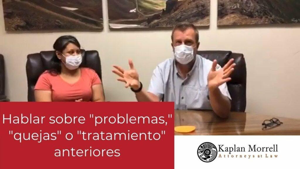 Hablando sobre Problemas, Quejas o Tratamientos Anteriores