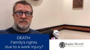 die due to work injury