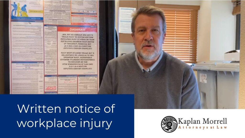 Written Notice of my Injury